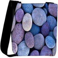Snoogg Pebble Stone Beach Designer Protective Back Case Cover For Oneplus 3 Designer Womens Carry Around Cross Body Tote Handbag Sling Bags RPC-401-SLTOBAG