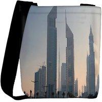 Snoogg Tall Buildings Designer Womens Carry Around Cross Body Tote Handbag Sling Bags RPC-8094-SLTOBAG