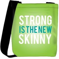 Snoogg Strong Is The New Skinny Designer Protective Back Case Cover For Oneplus 3 Designer Womens Carry Around Cross Body Tote Handbag Sling Bags RPC-439-SLTOBAG