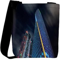 Snoogg Dark Side Of Building Designer Womens Carry Around Cross Body Tote Handbag Sling Bags RPC-8134-SLTOBAG