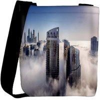 Snoogg Big Buildings Designer Womens Carry Around Cross Body Tote Handbag Sling Bags RPC-8160-SLTOBAG
