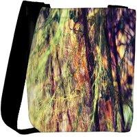 Snoogg Drying Leaves In Trees Designer Womens Carry Around Cross Body Tote Handbag Sling Bags RPC-8364-SLTOBAG