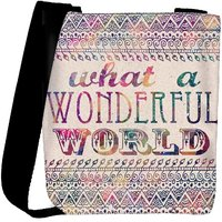 Snoogg What A Wonderful World Designer Protective Back Case Cover For Oneplus 3 Designer Womens Carry Around Cross Body Tote Handbag Sling Bags RPC-3290-SLTOBAG