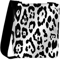 Snoogg Leopard Skin White And Black Designer Protective Back Case Cover For Oneplus 3 Designer Womens Carry Around Cross Body Tote Handbag Sling Bags RPC-3293-SLTOBAG