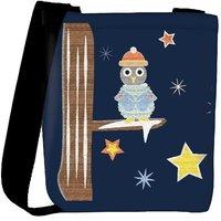 Snoogg Christmas Snow 2468 Designer Womens Carry Around Cross Body Tote Handbag Sling Bags RPC-2468-SLTOBAG
