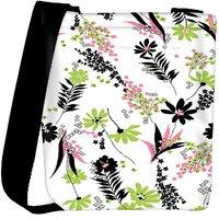Snoogg White Leaves Pattern 2479 Designer Womens Carry Around Cross Body Tote Handbag Sling Bags RPC-2479-SLTOBAG