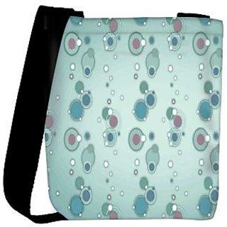 Snoogg Blue Circles And Bubbles 2594 Designer Womens Carry Around Cross Body Tote Handbag Sling Bags RPC-2594-SLTOBAG