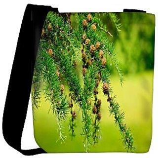 Snoogg Multiple Wooden Flowers Designer Womens Carry Around Cross Body Tote Handbag Sling Bags RPC-8496-SLTOBAG