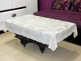 Katwa Clasic - 36 x 54 Inches Fancy Lace Vinyl Tablecloth (Lemon)