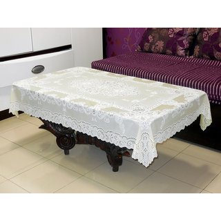 Katwa Clasic - 36 x 54 Inches Fancy Lace Vinyl Tablecloth (Lemon)