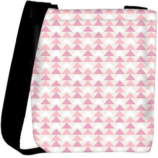 Snoogg Small Triangles Designer Womens Carry Around Cross Body Tote Handbag Sling Bags RPC-10280-SLTOBAG