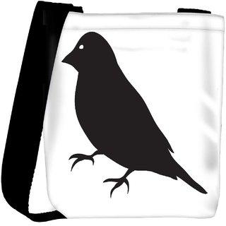Snoogg Bird Vector Element Designer Womens Carry Around Cross Body Tote Handbag Sling Bags RPC-4002-SLTOBAG