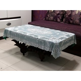 Katwa Clasic - 36 x 54 Inches Fancy Lace Vinyl Tablecloth (Dark Green)