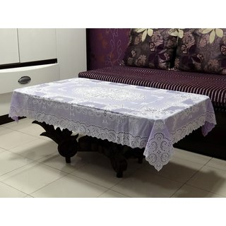 Katwa Clasic - 36 x 54 Inches Fancy Lace Vinyl Tablecloth (Violet)