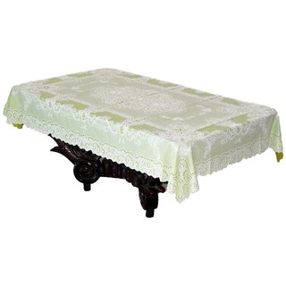 Katwa Clasic - 36 x 54 Inches Fancy Lace Vinyl Tablecloth (Pista)