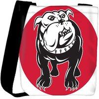 Snoogg Bulldog Mongrel Dog Front View Designer Protective Back Case Cover For Oneplus 3 Designer Womens Carry Around Cross Body Tote Handbag Sling Bags RPC-4071-SLTOBAG