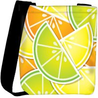 Snoogg Citrus Wedge Background Card In Vector Format Designer Protective Back Case Cover For Oneplus 3 Designer Womens Carry Around Cross Body Tote Handbag Sling Bags RPC-4145-SLTOBAG