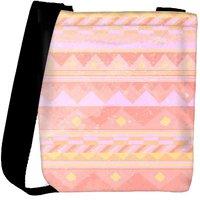 Snoogg Pink Light Aztec Designer Protective Back Case Cover For Oneplus 3 Designer Womens Carry Around Cross Body Tote Handbag Sling Bags RPC-3517-SLTOBAG