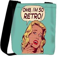 Snoogg Omg Im So Retro Designer Protective Back Case Cover For Oneplus 3 Designer Womens Carry Around Cross Body Tote Handbag Sling Bags RPC-3543-SLTOBAG