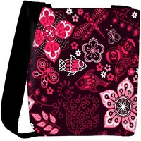 Snoogg Colorful Floral Seamless Pattern In Cartoon Style Seamless Pattern Designer Protective Back Case Cover For Oneplus 3 Designer Womens Carry Around Cross Body Tote Handbag Sling Bags RPC-4171-SLTOBAG
