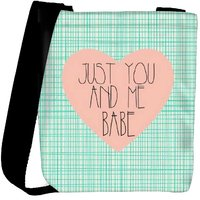 Snoogg Just You And Me Babe Designer Protective Back Case Cover For Oneplus 3 Designer Womens Carry Around Cross Body Tote Handbag Sling Bags RPC-3360-SLTOBAG