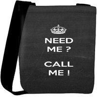Snoogg Need Me Call Me Designer Protective Back Case Cover For Oneplus 3 Designer Womens Carry Around Cross Body Tote Handbag Sling Bags RPC-3552-SLTOBAG