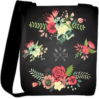 Snoogg Cute Floral Bouquets Designer Protective Back Case Cover For Oneplus 3 Designer Womens Carry Around Cross Body Tote Handbag Sling Bags RPC-4251-SLTOBAG