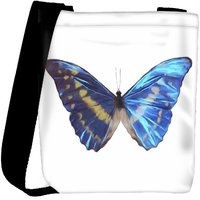Snoogg Digital Painting Of A Butterfly Designer Protective Back Case Cover For Oneplus 3 Designer Womens Carry Around Cross Body Tote Handbag Sling Bags RPC-4288-SLTOBAG