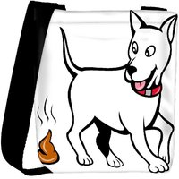 Snoogg Dog With Poo Designer Protective Back Case Cover For Oneplus 3 Designer Womens Carry Around Cross Body Tote Handbag Sling Bags RPC-4299-SLTOBAG