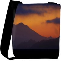 Snoogg Evening Landscape Background Designer Protective Back Case Cover For Oneplus 3 Designer Womens Carry Around Cross Body Tote Handbag Sling Bags RPC-4345-SLTOBAG