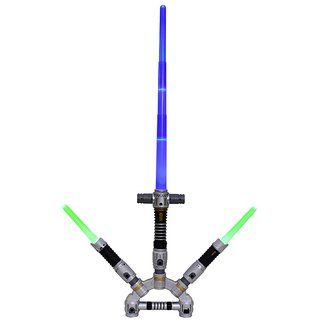 Space Wars Series Planet Of Toys Star Lightsaber Extension Sword With 100 Combinations ( Led Lights And Sounds )