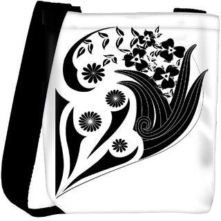 Snoogg Decor Floral Design Designer Protective Back Case Cover For Oneplus 3 Designer Womens Carry Around Cross Body Tote Handbag Sling Bags RPC-4274-SLTOBAG