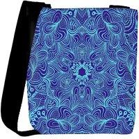 Snoogg Blue And Purple Designer Womens Carry Around Cross Body Tote Handbag Sling Bags RPC-10263-SLTOBAG