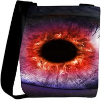 Snoogg The Eye Of The Storm Designer Protective Back Case Cover For Oneplus 3 Designer Womens Carry Around Cross Body Tote Handbag Sling Bags RPC-3395-SLTOBAG