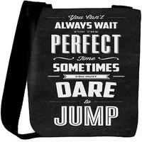 Snoogg Dare To Jump Designer Protective Back Case Cover For Oneplus 3 Designer Womens Carry Around Cross Body Tote Handbag Sling Bags RPC-3449-SLTOBAG