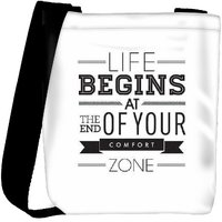 Snoogg End Your Comfort Designer Protective Back Case Cover For Oneplus 3 Designer Womens Carry Around Cross Body Tote Handbag Sling Bags RPC-3451-SLTOBAG