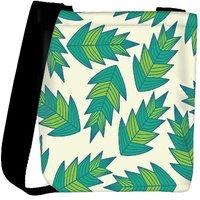 Snoogg A Seamless Leaf Pattern Designer Protective Back Case Cover For Oneplus 3 Designer Womens Carry Around Cross Body Tote Handbag Sling Bags RPC-3917-SLTOBAG