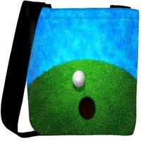Snoogg Ball Near Water Golf Background Designer Protective Back Case Cover For Oneplus 3 Designer Womens Carry Around Cross Body Tote Handbag Sling Bags RPC-3959-SLTOBAG