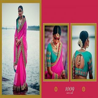 Nargis Pink Zari Art Silk