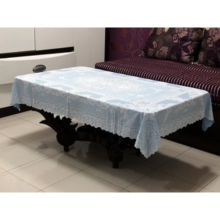 Katwa Clasic - 36 x 54 Inches Fancy Lace Vinyl Tablecloth (Blue)