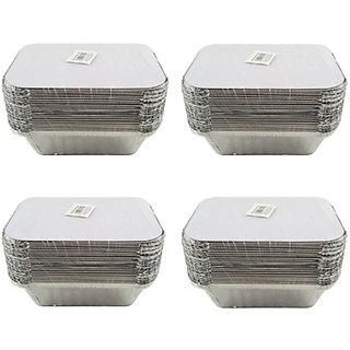 Ezee Silver Aluminium Foil Container 450 ml 100 Pieces
