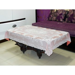 Katwa Clasic - 36 x 54 Inches Fancy Lace Vinyl Tablecloth (Copper)