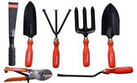 Visko 611 7 Pc Garden Tool Kit with Khurpa and Pruning Secateur.