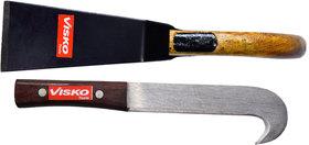 Visko 612 2 Pc Garden Tool Set(Wooden Khurpa and Bill Hook)