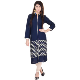 Beautiful Cotton Printed Blue Kurti From the house of Palakh
