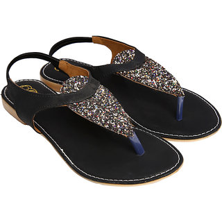 Jade Women's Black Sandals