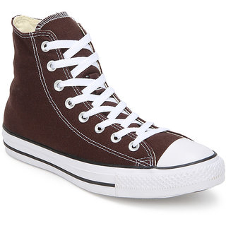 Converse Mens High Top Brown Canvas Sneakers