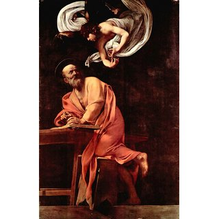 The Museum Outlet - St. Matthew and the Angel by Caravaggio - Poster Print Online Buy (30 X 40 Inch)