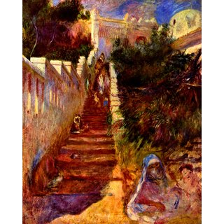 The Museum Outlet - Stairs in Algier by Renoir - Poster Print Online Buy (30 X 40 Inch)