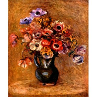 The Museum Outlet - Still life with anemones by Renoir - Poster Print Online Buy (30 X 40 Inch)